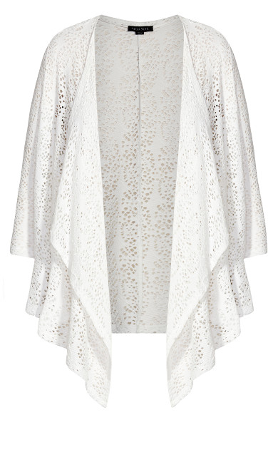 Liz Lace Cardigan - white