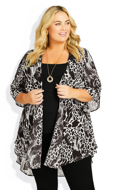 Plus Size Tatum Jacket - animal