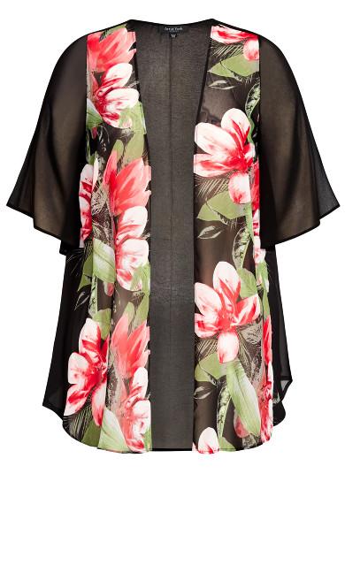 Tatum Jacket - black floral