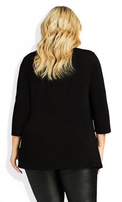 Primrose Zip Tunic - black