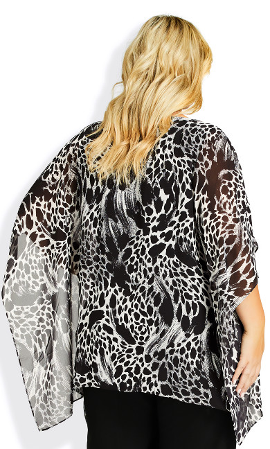 Bella Overlay Top - animal