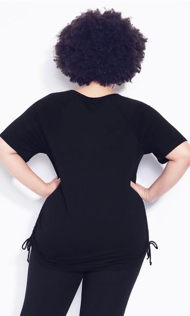 Ruched Side Top - black