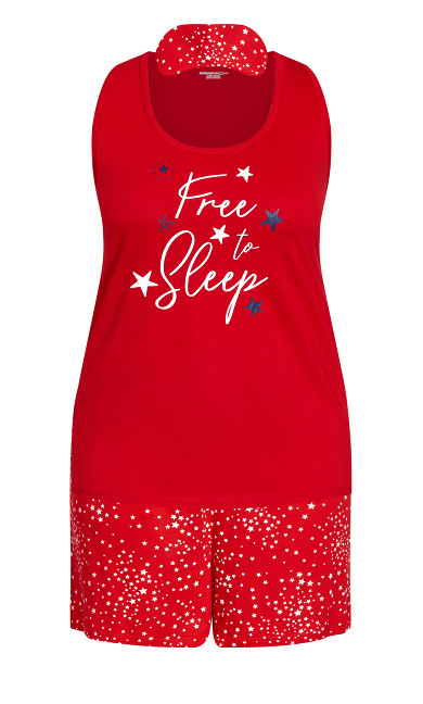 Free Sleep Set - red