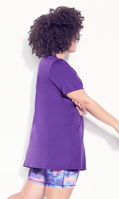 Taj Short Sleeve Tunic - purple