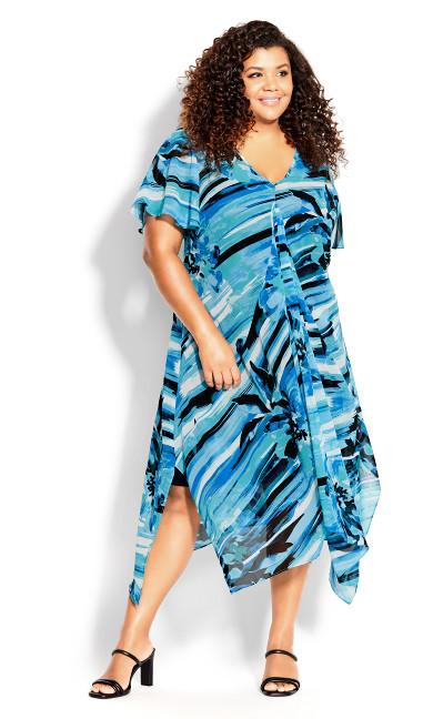 Plus Size Marina Dress - turquoise