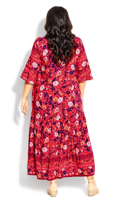 Valerie Border Dress - pink floral