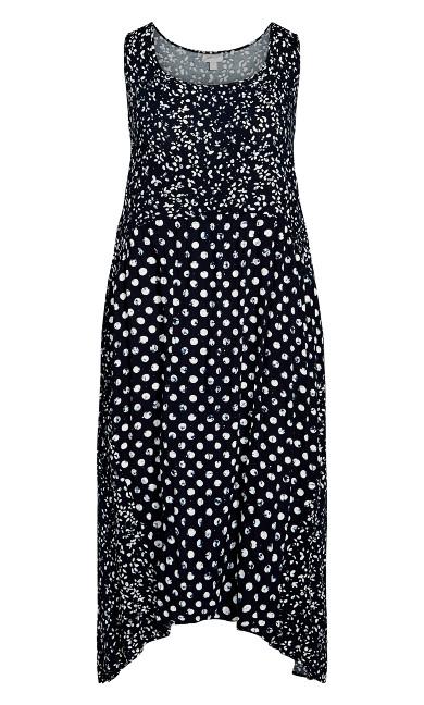 Kylee Crush Dress - navy spot