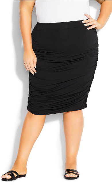 Ruched Skirt - black