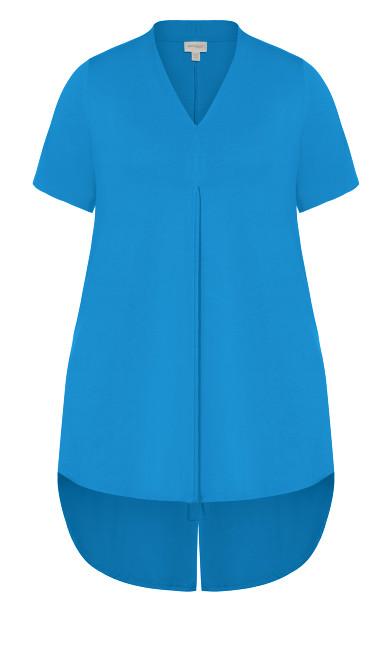 Kaylie Hi Lo Top - blue