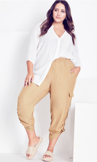 Shiloh Ruched Pant - stone