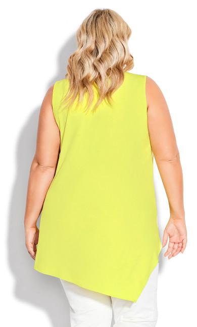Kinley Drape Tunic - yellow