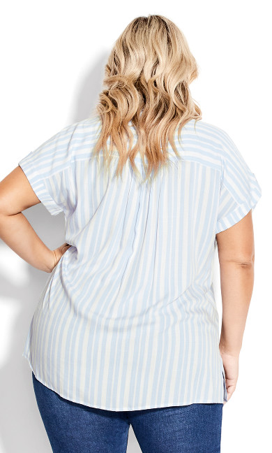 Bowling Shirt - blue stripe