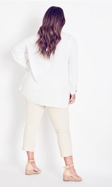 Linen Mix Shirt - white