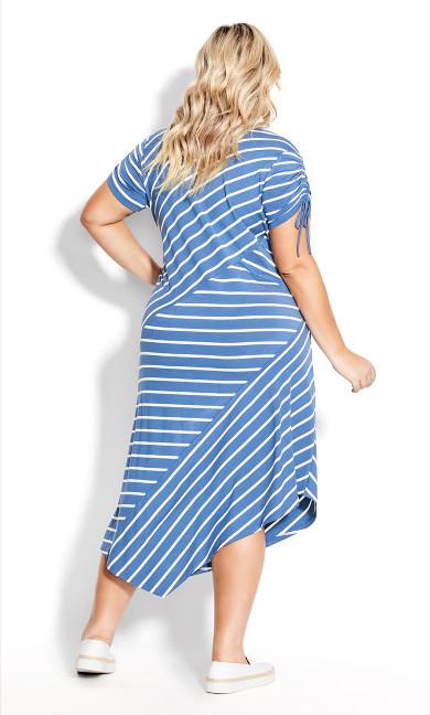 Knit Shirttail Dress - indigo