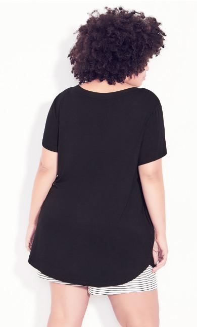 Side Seam Tunic - black