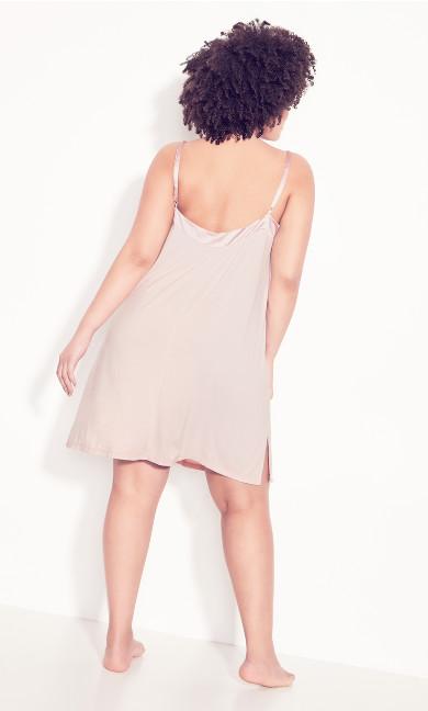 Satin Trim Nightgown - pink