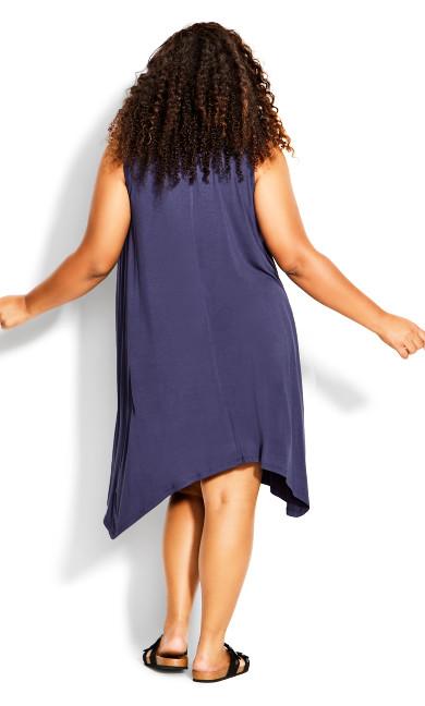 Aria Pleat Dress - amethyst
