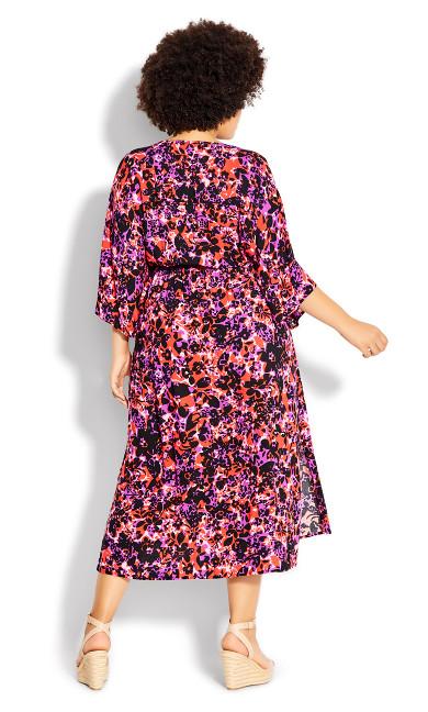 Day Date Print Maxi Dress - fuchsia floral