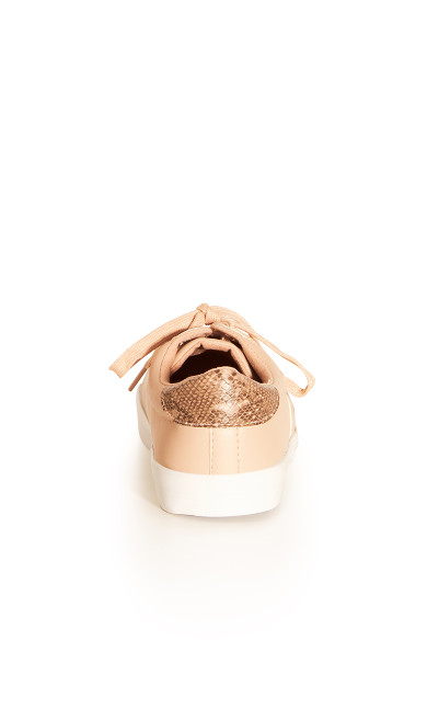 EXTRA WIDE FIT Snake Detail Trainer - blush