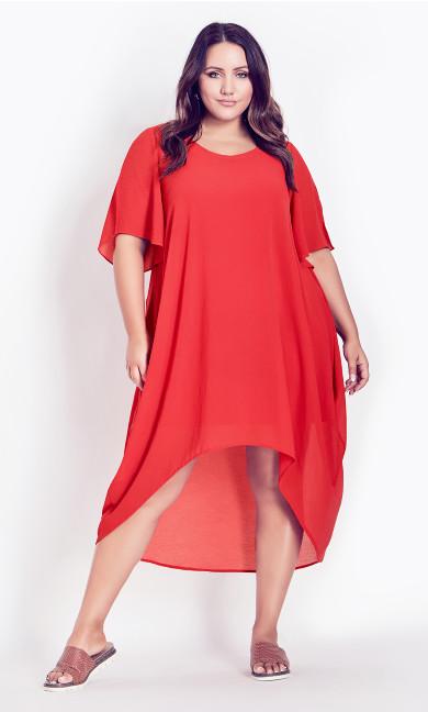 Plus Size Harriet Dress - raspberry