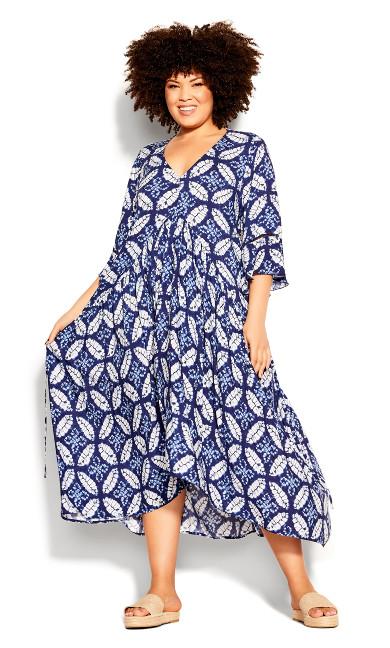 Plus Size Valencia Dress - sapphire