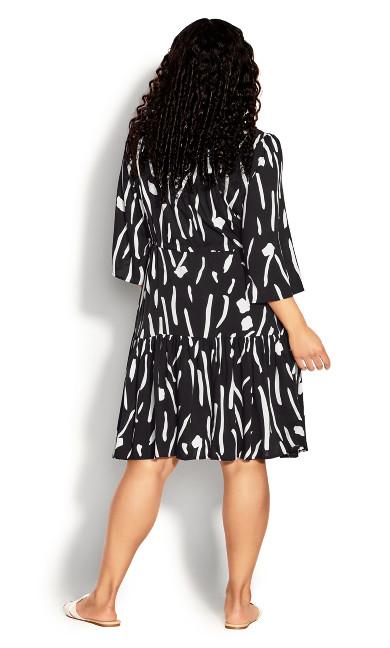 Endless Sun Midi Dress - black print