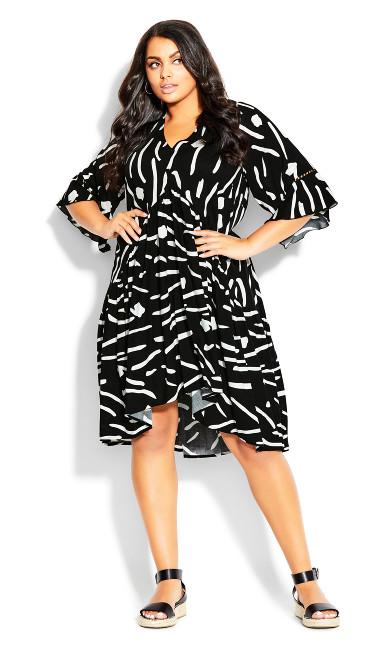 Valencia Mini Dress - black print
