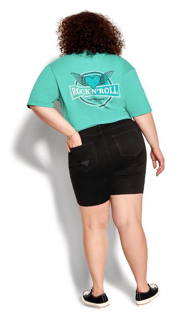 Nia Ripped Short - black