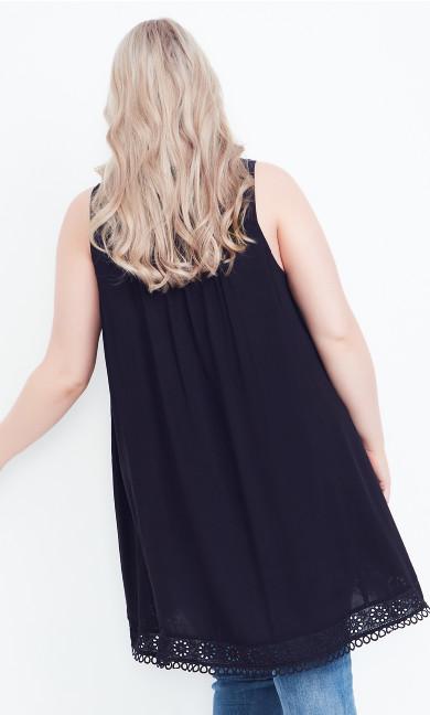 Harmony Lace Tunic - black