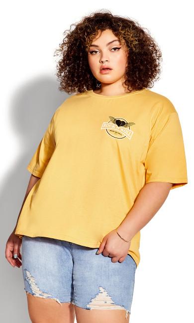 Plus Size Melanie Tee - gold