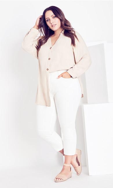 Suzie Crop Pant - white