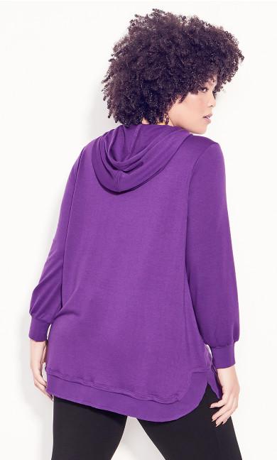Hoodie Tunic - purple