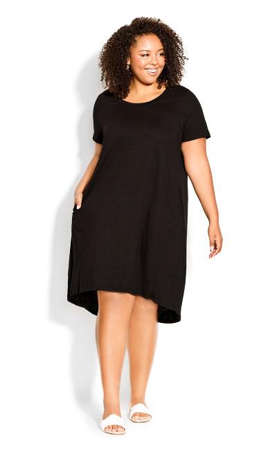 Tara Panel Dress - black