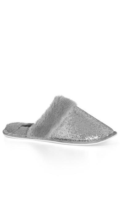 WIDE FIT Daza Slipper - silver