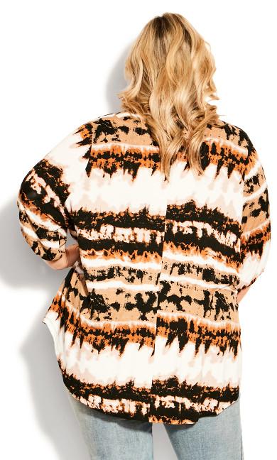 Leila Print Top - brown tie dye