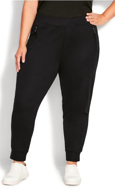 Ponte Zipped Jogger - black