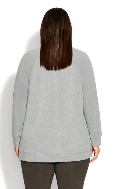 Sequin Sweat Top - grey