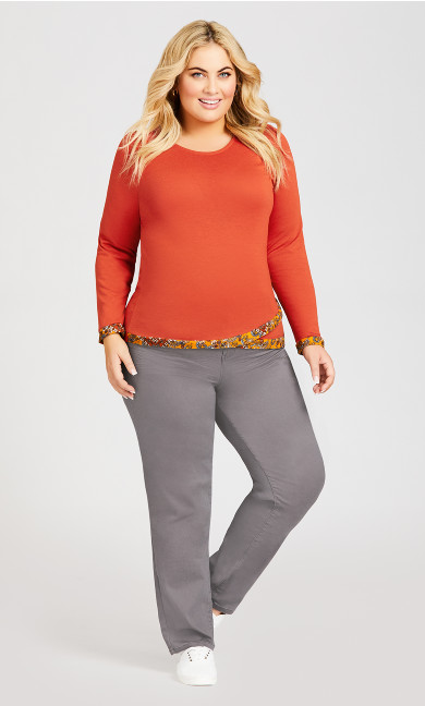 Plus Size Grey Pocket Straight Leg Pant Average - grey