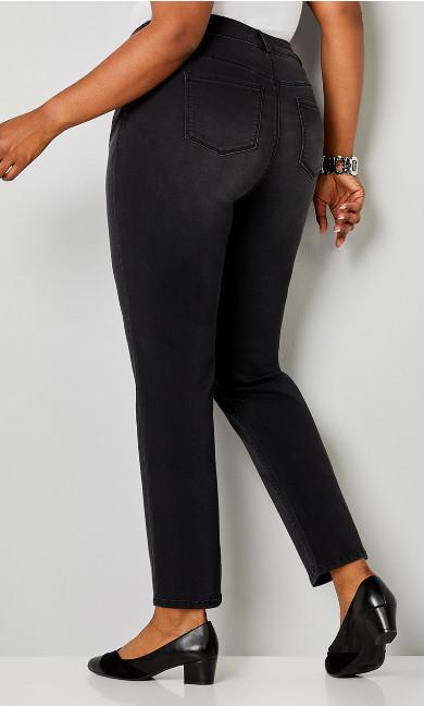 Luxe Sateen 5 Pocket Jean Black - average