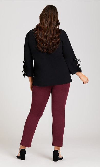 Luxe Sateen Jean Red - average