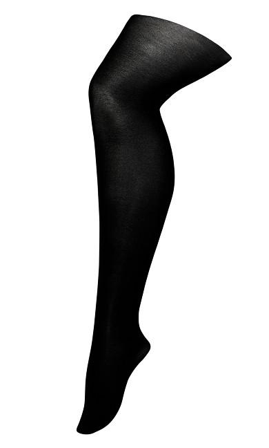 Plus Size Basic Fashion Tights - black