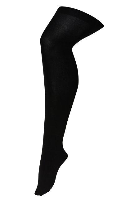Plus Size Fleece Lined Tight - black