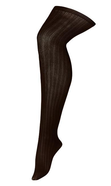 Rib Tights - brown