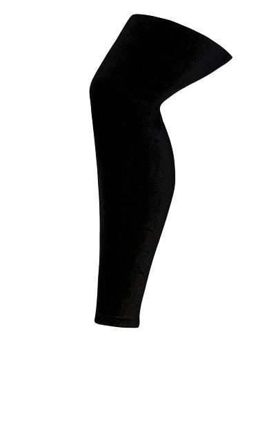 Plus Size Velvet Legging - black