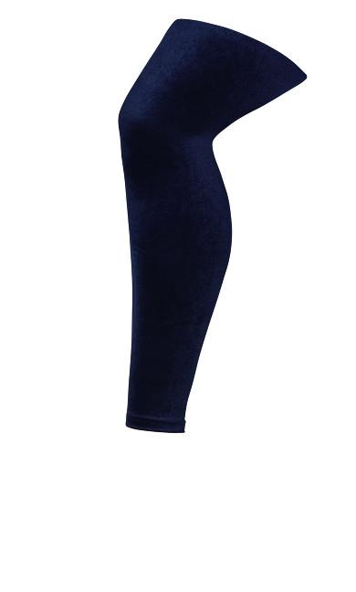 Plus Size Velvet Legging - navy