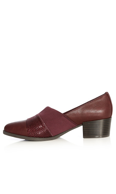 Willow Loafer Pump - wine