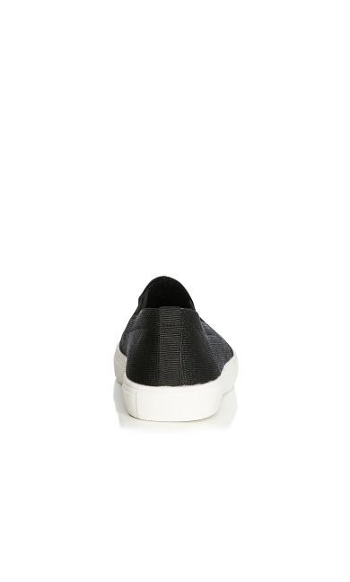 Brooklyn Knitted Slip-On Sneaker - black