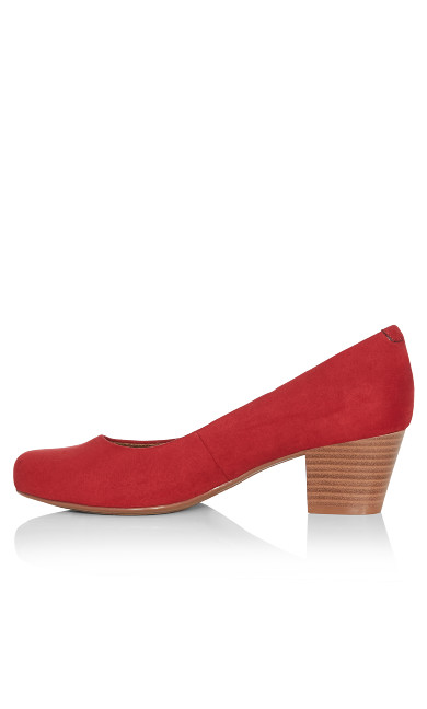 Aja Faux Suede Pump - red