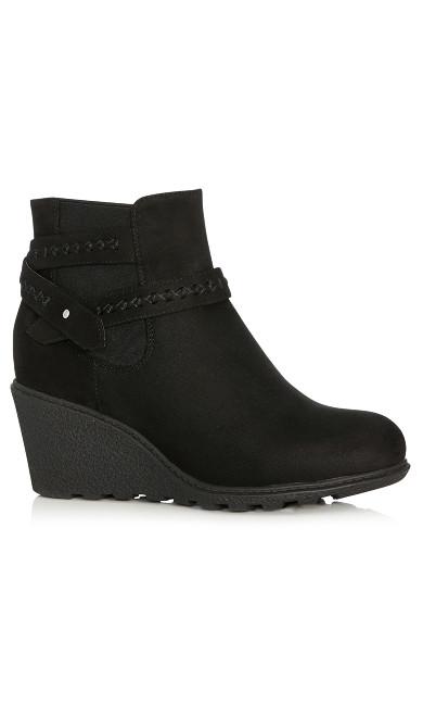 Plus Size Alanna Wedge Bootie - black