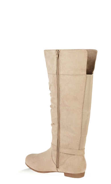 Beacon Faux Suede Tall Boot - taupe